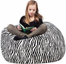 Chill Zone Zebra Sitzsack, Big 300 Wild, 130 x 70 cm