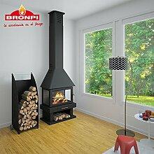 chimena von Brennholz bronpi Modell Huesca