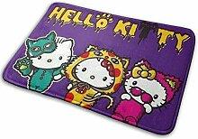 Chimmy95 Backing rutschfeste Fußmatte Hello Kitty