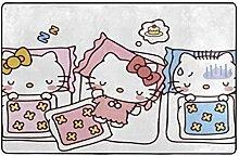 Chimmy95 Großer Rutschfester Teppich Hello Kitty