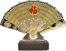 China Elegant Antik Ventilator Bildschirm Kunsthandwerk Malerei Gourmet Muster Büro Zu Hause Dekorationen Geschenk Verzierungen Handarbeit Kunst,25.5Mm*14.5Mm*20Cm-A