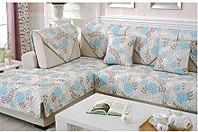 China Palaeowind Sofa Handtuch Pastoral Mode Einfachen Slipcover Gedruckt,Blue-90*210cm