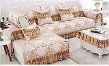 China Palaeowind Sofakissen, Stoff, Continental, Luxus, Rutschfest, Spitze, Sofa Tuch, Sofa-Sets,Brown-30*50