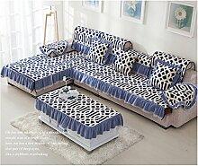China Palaeowind Winter-Verdickung Plüsch Sofakissen Sofa Slipcover Europäische Pastoralen Sofa Abdeckung Handtuch,E-90*180cm