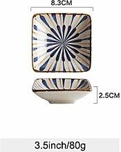 China Porzellanteller Japanischer Stil Unglasierte