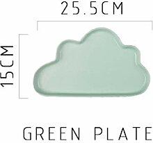 China Porzellanteller Keramik Porzellan Wolke