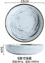 China Porzellanteller Marmor Muster Porzellan
