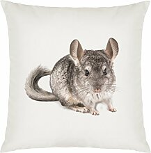 Chinchilla Image Design Large Cushion Cover with Filling