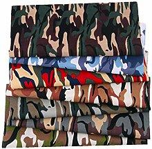 chinejaper 7 Stück 25x25cm Camouflage Bedruckter