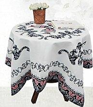 Chinese Baumwolle Tischtuch / moderne Holzcouchtisch rechteckige Tischdecke Runder Tisch , dark blue , 140 * 180