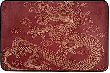 Chinese Dragon Red Hintergrund Türmatte Fußmatte
