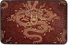Chinese Gold Dragons Fashion Memory Foam