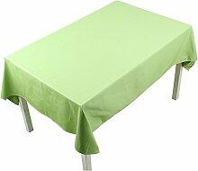 Chinese Pure Farbe Garten Tisch Tuch/Tuch Tisch Pad/Bedeckung-Tuch-D 140x200cm(55x79inch)