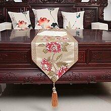 Chinesisch-art tischläufer einfache und moderne tischdecke living room esstisch tv-schrank teetisch frische tischfahne-A 33x150cm(13x59inch)
