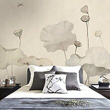 Chinesisch Lotus, Lotus Blatt, Tapete, Wohnzimmer, Schlafzimmer, Hintergrund Tapete, Nonwoven Papier