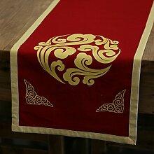 Chinesisch retro,aus baumwolle und leinen tischläufer/tee-zeremonie,tee tischläufer/bett-runner/tischläufer-A 33x190cm(13x75inch)