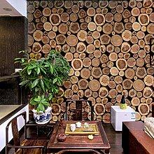 Chinesisch Simpel Abstrakt Wallpaper, Holzoptik