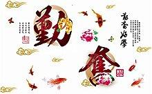 Chinesisch Sprichwort Aufdruck Entfernbar Wandtattoo Aufkleber Wandpapier Deko