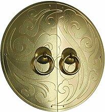 Chinesische Antik Einhand/Schrank Kleiderschrank Hardware Türgriff Griffe Messing Lock Platte reines Kupfer Tür/[Türgriff Kupferblech Tongsuo]-W