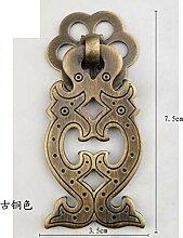 Chinesische Antik Schubladengriffe/Griff Einlochmontage/Schrank Kleiderschrank Kupfer Griff/Retro-möbelgriff Hardware-D