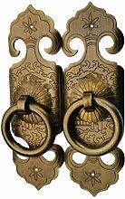 Chinesische Antike Griff Einlochmontage/Kleiderschrank Schrank Türen Aus Massivem Messing Metall Griff/Möbelbeschläge-D