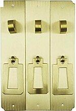 Chinesische antike Griff/Möbel/Kupfer Metallbeschläge/Schrank Schranktüren mit der Spalte-K