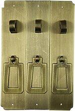 Chinesische antike Griff/Möbel/Kupfer Metallbeschläge/Schrank Schranktüren mit der Spalte-G