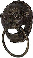 Chinesische antike Klopfer, Schranktür aus reinem