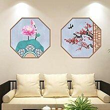 Chinesische Art Bilderrahmen Wandaufkleber