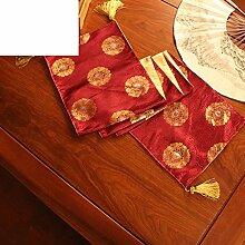 Chinesische Art,Chinesische Art,Tee Tischläufer/Tischläufer/Klassischen,Brokat Couchtisch Flagge/Bett-runner/Tischläufer-A 30x180cm(12x71inch)