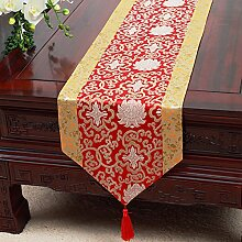 Chinesische Art,Ländlichen,Tischläufer/Tischdecke/Tee Tischdecke/Bett-runner/Tischläufer-A 33x300cm(13x118inch)