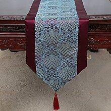 Chinesische Art,Ländlichen,Tischläufer/Tischdecke/Tee Tischdecke/Bett-runner/Tischläufer-F 33x230cm(13x91inch)