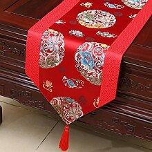 Chinesische Art,Pastorale Tischläufer/Bett-runner/Kabinettflagge/Europäische Tischläufer-P 33x200cm(13x79inch)