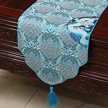 Chinesische Art,Retro,Simple,Moderne,Tischläufer/Neue Klassische Tischdecke-B 33x150cm(13x59inch)