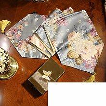 Chinesische Art,Tischtischflagge/Europäisch,Floral,American Style,Landschaft Couchtisch Flagge/Bett-runner-B 33x240cm(13x94inch)
