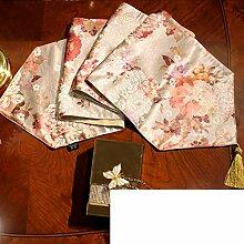 Chinesische Art,Tischtischflagge/Europäisch,Floral,American Style,Landschaft Couchtisch Flagge/Bett-runner-F 33x240cm(13x94inch)