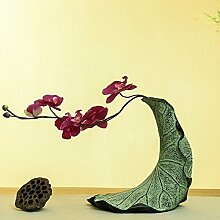 Chinesische Art Vase Lotusblatt Dekoration Moderne