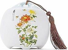 Chinesische Art-weiße CeramicTea-Speicher-Kästen