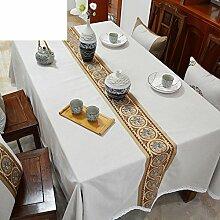 Chinesische Baumwoll-leinen Tischdecke Tee Tischdecke,Einfache Tuch Moderne Tv-schrank Tuch-A 140x220cm(55x87inch)