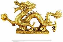 Chinesische Drachen-Figur/Statue, Messing,