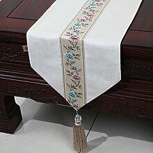 Chinesische einfache Tischl?ufer/Moderne europ?ische Garten Tischdecke/Tetabellentuch/Bett-banner/Bett-Tücher-M 33x300cm(13x118inch)