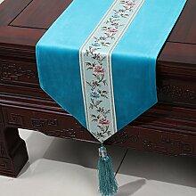 Chinesische einfache Tischl?ufer/Moderne europ?ische Garten Tischdecke/Tetabellentuch/Bett-banner/Bett-Tücher-J 33x300cm(13x118inch)