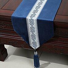Chinesische einfache Tischl?ufer/Moderne europ?ische Garten Tischdecke/Tetabellentuch/Bett-banner/Bett-Tücher-I 33x200cm(13x79inch)
