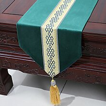 Chinesische einfache Tischl?ufer/Moderne europ?ische Garten Tischdecke/Tetabellentuch/Bett-banner/Bett-Tücher-F 33x150cm(13x59inch)