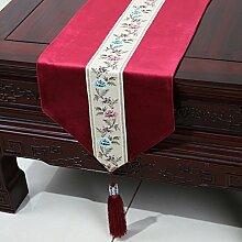 Chinesische einfache Tischl?ufer/Moderne europ?ische Garten Tischdecke/Tetabellentuch/Bett-banner/Bett-Tücher-A 33x200cm(13x79inch)