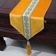 Chinesische einfache Tischl?ufer/Moderne europ?ische Garten Tischdecke/Tetabellentuch/Bett-banner/Bett-Tücher-L 33x150cm(13x59inch)