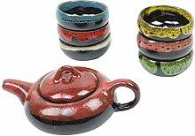 Chinesische Hochzeit Teekanne Set mit 6 Teetassen