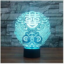 Chinesische Hochzeit Zeichen Touch Tischlampe 7