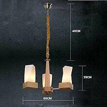 Chinesische Holz LED Kronleuchter mit 3/5 Leuchten