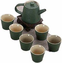 Chinesische Keramik Kung Fu Teeset Vintage Teeset